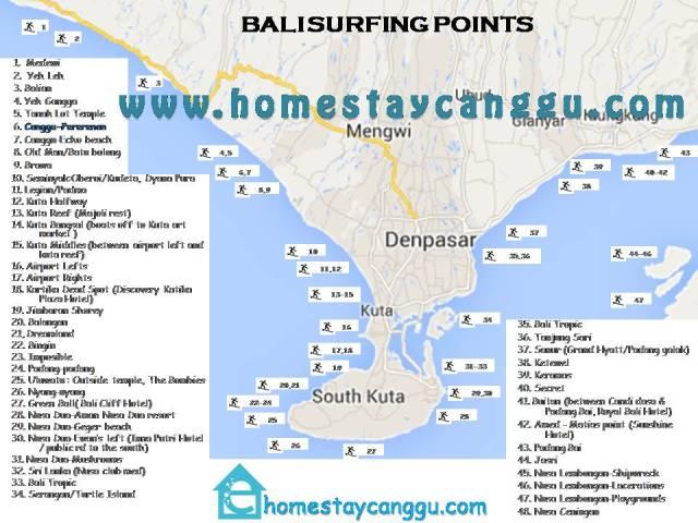 Bali Surfing Map